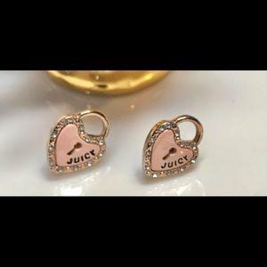 Juicy Couture earrings Newer Line, pink locked 💕